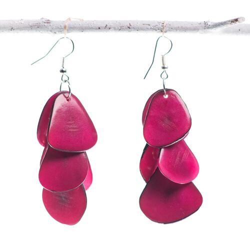 Bea Mely Tagua-Ohrring pink aus Ecuador