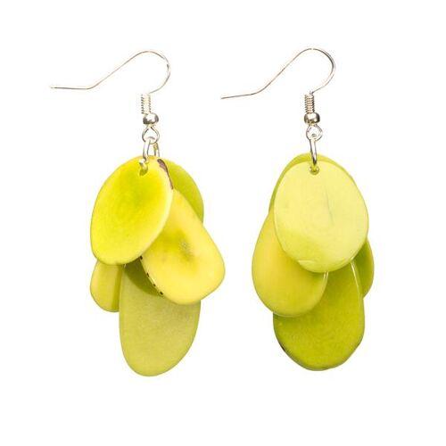 Bea Mely Tagua-Ohrring grün aus Ecuador