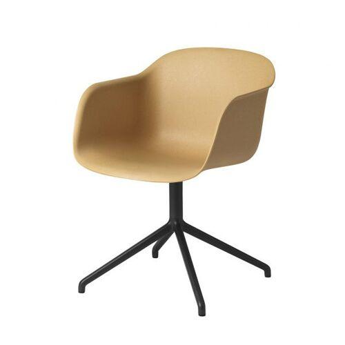 Muuto Fiber Arm Chair Drehbarer Ocker