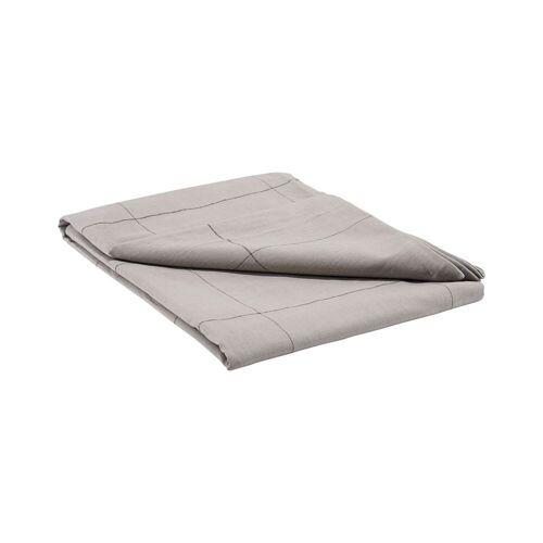 House Doctor Tischdecke Irra kariert in Grau aus Baumwolle 330 x 140 cm