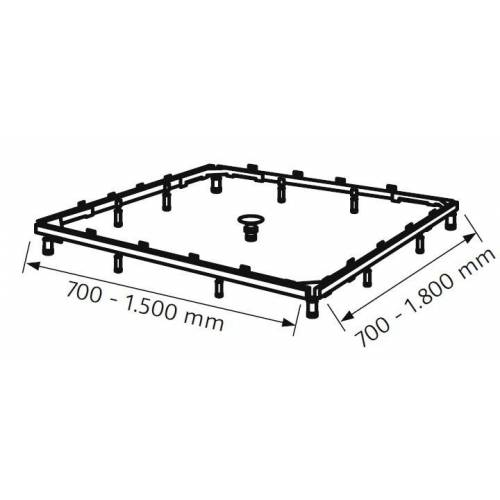 HSK Montagerahmen für Acryl- und Marmor-Polymer-Duschwannen