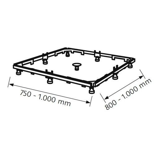 HSK Montagerahmen für Acryl-Duschwannen