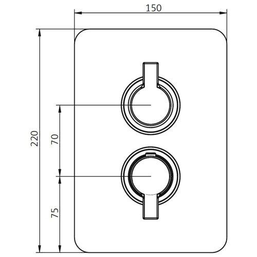 HSK Unterputz-Sicherheitsthermostat mit Styroporkörper Softcube