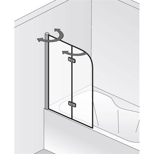 Serie Exklusiv HSK Badewannenaufsatz Exklusiv 2-teilig - chrom SpeedLine