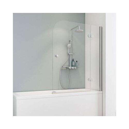 Schulte M8 Duschwand Badewannenaufsatz 2-teilig - Duschkabine