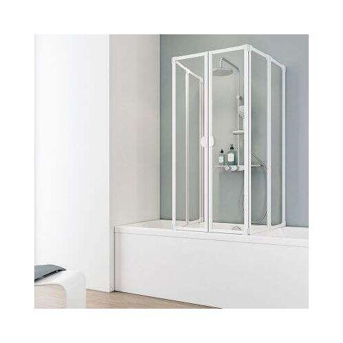 Schulte Komfort VI Badewannenaufsatz, 2 x 3-teilig - Duschkabine
