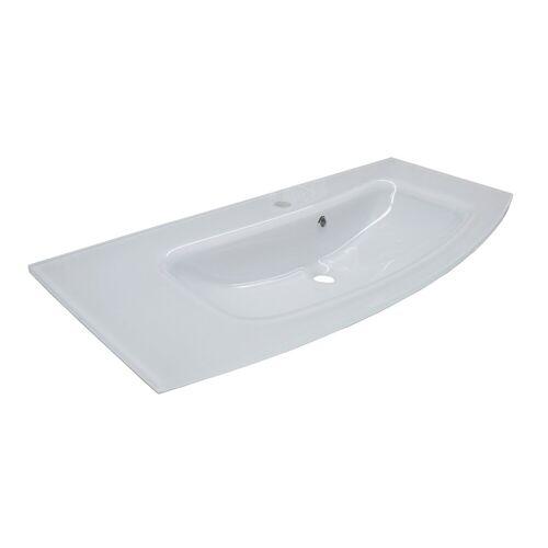 Fackelmann RONDO Waschbecken 100 cm aus Gussmarmor