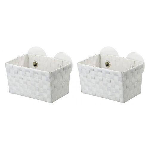 WENKO Static-Loc® Aufbewahrungskorb Fermo White, 2er Set