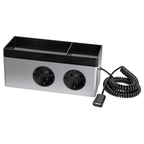 Lanzet E-Box mit 2 Steckdosen und USB Anschluss 18 cm