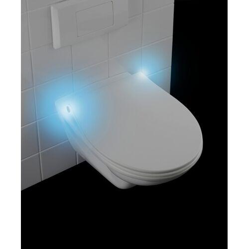 WENKO Premium WC-Sitz LED, mit Nachtlicht und Akustiksensor