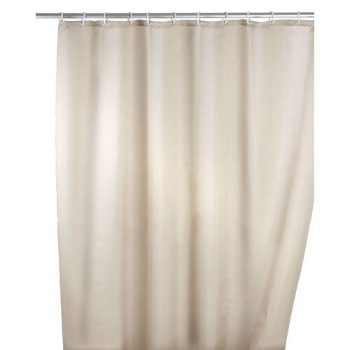 WENKO Anti-Schimmel Duschvorhang Uni Beige, 180 x 200 cm, waschbar