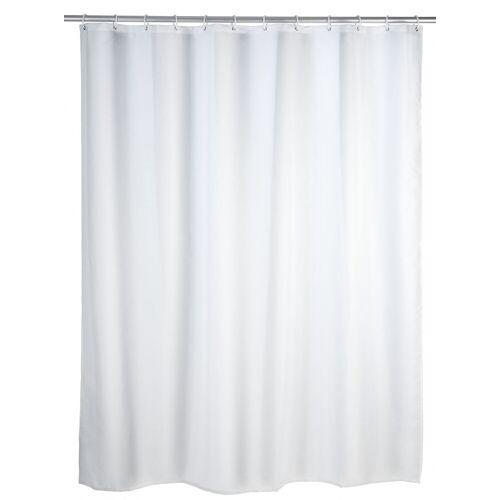 WENKO Anti-Schimmel Duschvorhang Uni White, 180 x 200 cm, waschbar