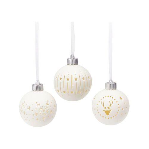 Living LED-Kugel-Set, 3-tlg. Living Weiß
