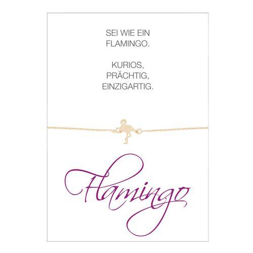 Herzkarte Flamingo-Armband Herzkarte Rosé