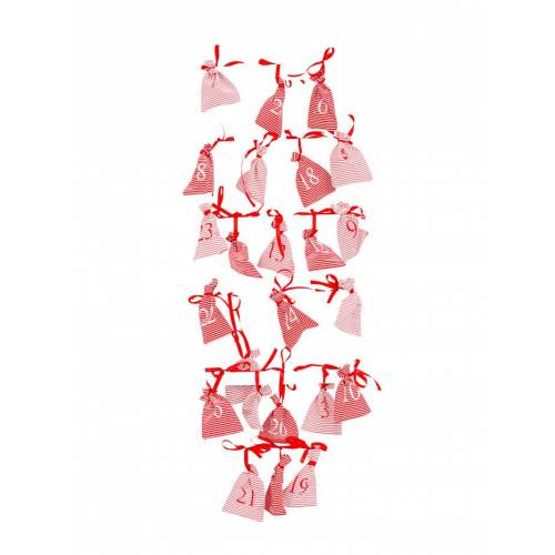 IMPRESSIONEN living Adventskalender-Set mit Leiter IMPRESSIONEN living Weiß::Rot