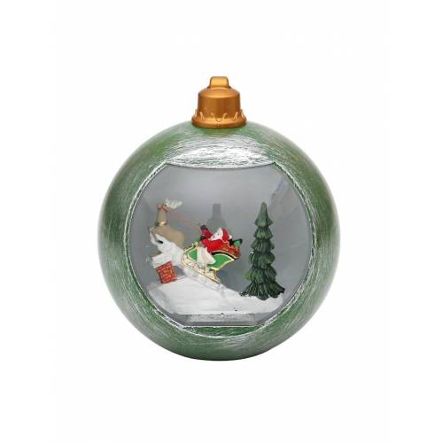 Sigro LED Kugel Santa im Rentierschlitten Sigro Bunt