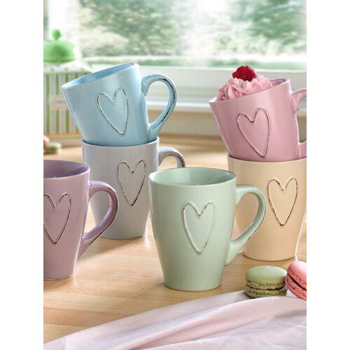 Ritzenhoff 6tlg. Kaffeebecher-Set 'Herz' Ritzenhoff mehrfarbig