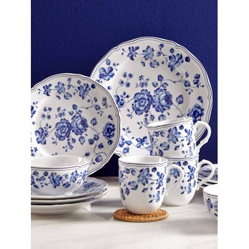 Creatable 16tlg. Kombiservice 'Alba - Royal Blue Flower' Creatable blau weiß
