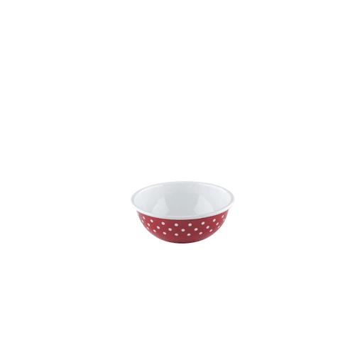 Riess Schüssel 18 cm rot weiß gepunktet Riess Rot