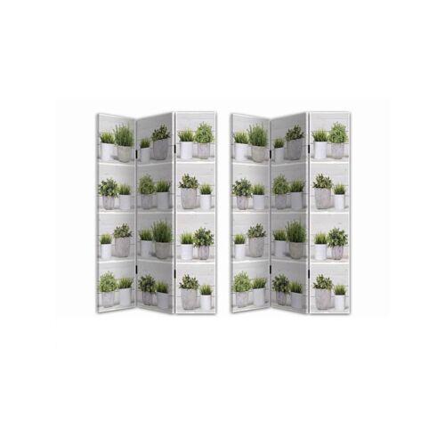 HTI-Line Paravent Küchenkräuter HTI-Line Weiß, Grün