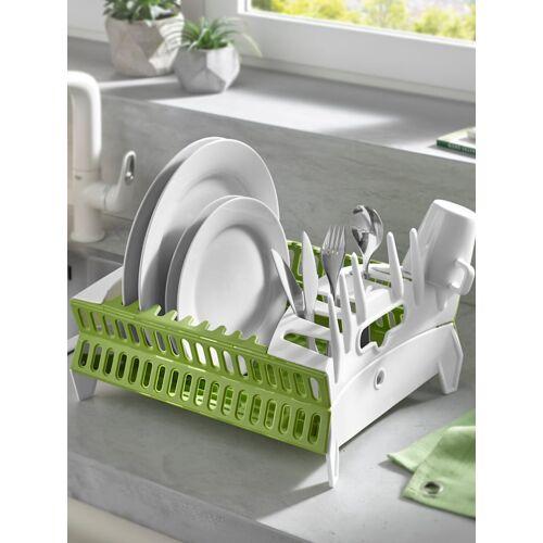 HELU Faltbarer Geschirrabtropfkorb HELU grün / weiß