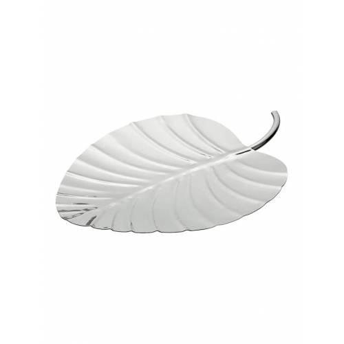 HTI-Living Platte silber Palmenblatt HTI-Living Silber
