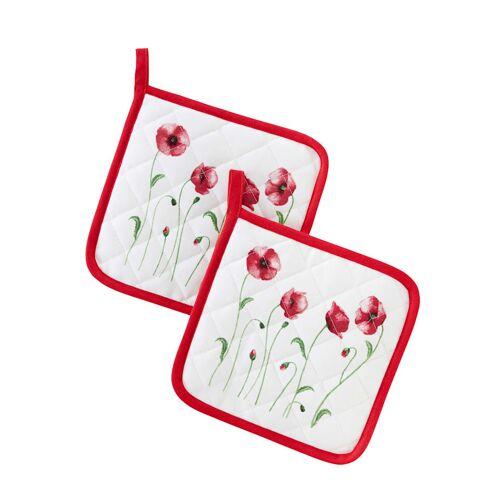 Kracht Topflappen 'Mohnblumen' im 2er-Pack Kracht rot