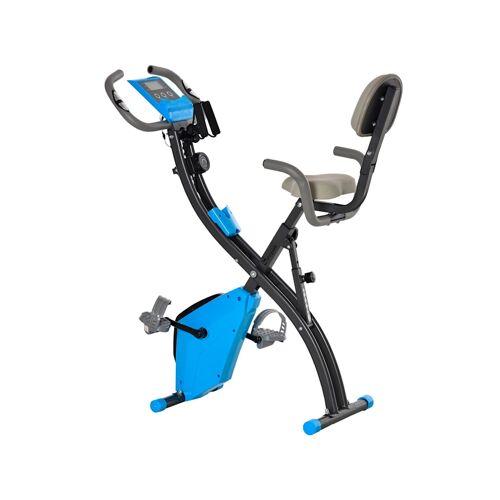 HOMCOM Fahrradtrainer mit LCD Display HOMCOM blau, grau