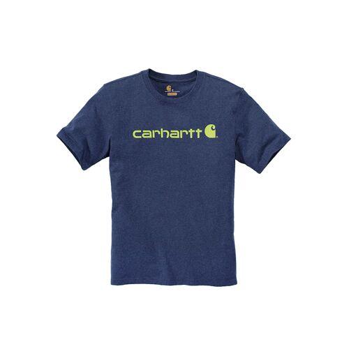Carhartt Bekleidung Carhartt Logo T-Shirt Carhartt dark cobalt blue heather