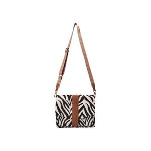 Codello Satchel-Bag mit Zebra-Dessin aus Canvas Codello off-white