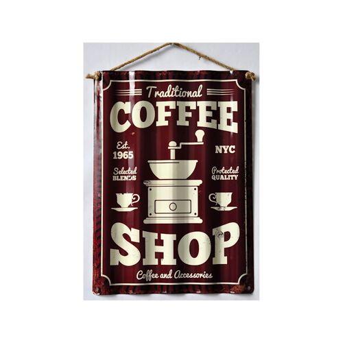 HTI-Line Blechschild Coffee HTI-Line Bunt