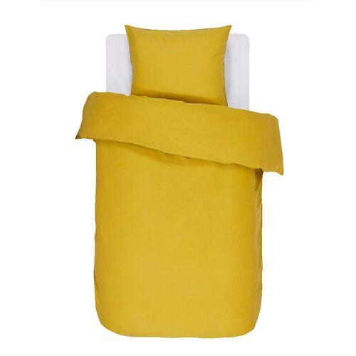 ESSENZA Satin Bettwäsche 'Minte' Essenza golden gelb