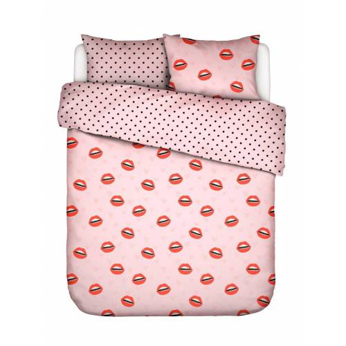 Covers & Co Perkal Bettwäsche 'Kiss My Sass' 2tlg. Covers & Co Rose
