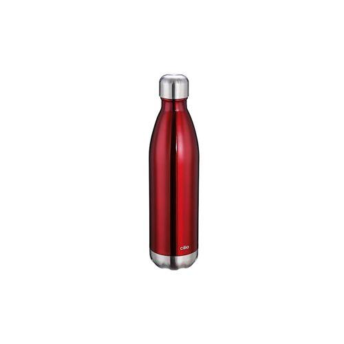 Cilio Isolierflasche ELEGANTE 0,75 Liter Cilio Rot