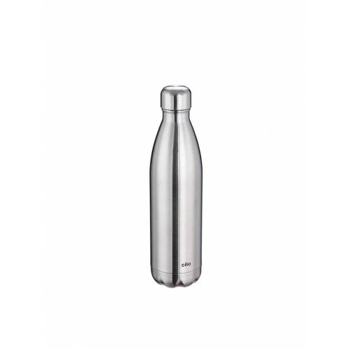 Cilio Isolierflasche ELEGANTE 0,75 Liter Cilio Silber