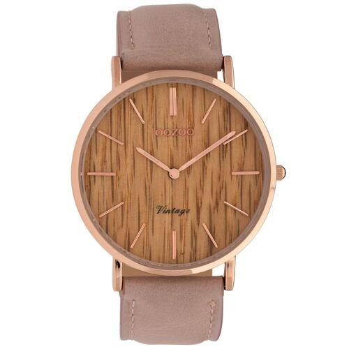 Oozoo Damenuhr Timepieces Pinkgrau 40 mm OOZOO Braun