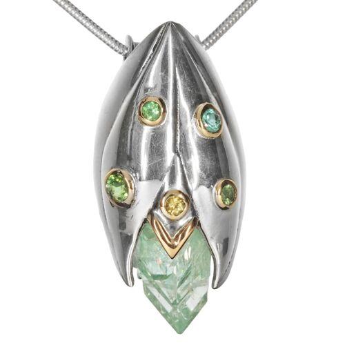 1001 Diamonds Damen Schmuck Edelstein Apophyllit Anhänger 925 Silber grün 1001 Diamonds grün