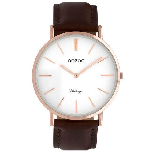Oozoo Damenuhr Vintage Braun/Weiß 40 mm OOZOO Weiß