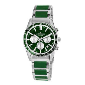 Jacques Lemans Unisex-Uhr Chronograph Jacques Lemans Silberfarben::Grün