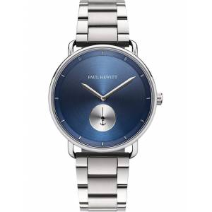 Paul Hewitt Herren-Uhren Analog Quarz Paul Hewitt silber/blau