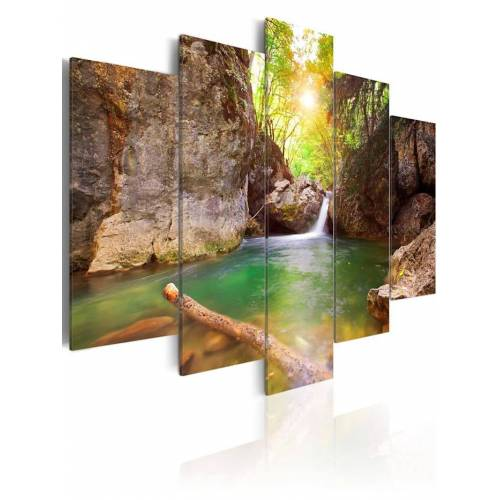 artgeist Wandbild Kristallklares Wasser artgeist Türkis,Grün,Braun