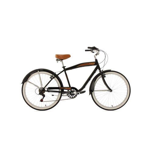 KS Cycling Beachcruiser 26 Zoll Vintage schwarz 6-Gänge KS Cycling Schwarz