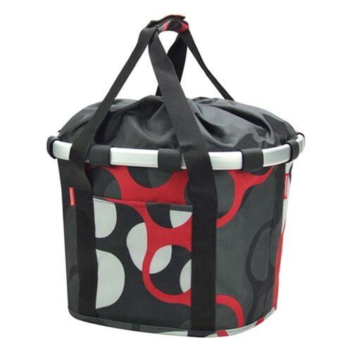 "Klickfix Vorderradkorb ""Bike Basket"" Klickfix grau-rot-weiß"
