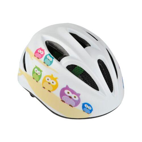 Fischer Fahrrad Helm Fahrradhelm Kinder Eule FISCHER Fahrrad weiß
