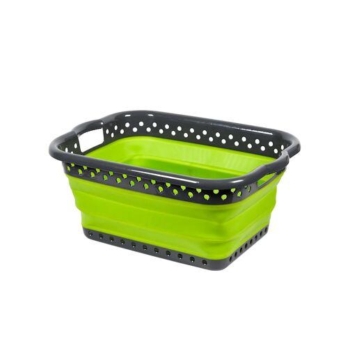 TRI Faltbarer Platzspar-Wäschekorb 'Trend' TRI Grün::Grau