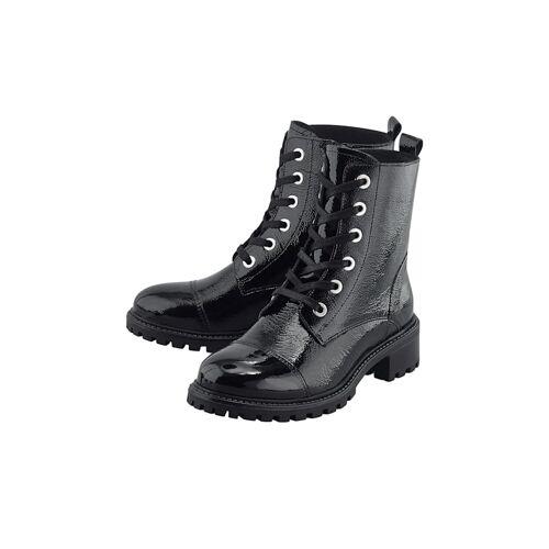 COX Schnür-Boots Lack-Boots COX schwarz