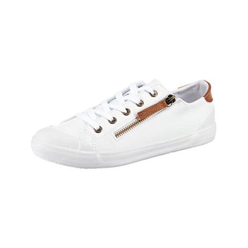 inselhauptstadt Flat City Sneaker mit Zip inselhauptstadt weiß