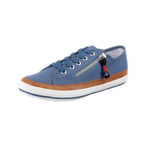 inselhauptstadt Flat City Sneaker mit Zip inselhauptstadt blau
