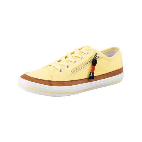 inselhauptstadt Flat City Sneaker mit Zip inselhauptstadt gelb