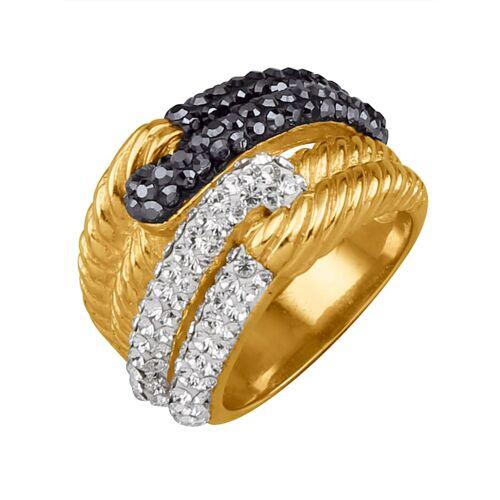 Golden Style Damenring mit Kristallen Golden Style Gelb